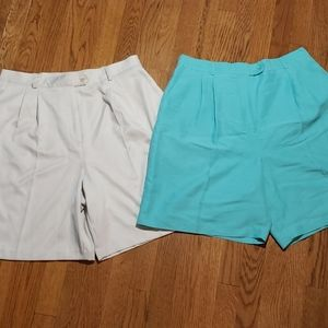 EP Pro golf shorts 2 pair. Green and  tan size 16